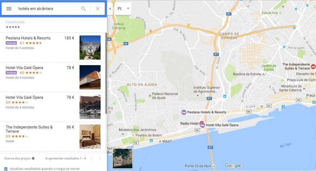 Anúncios Google Maps