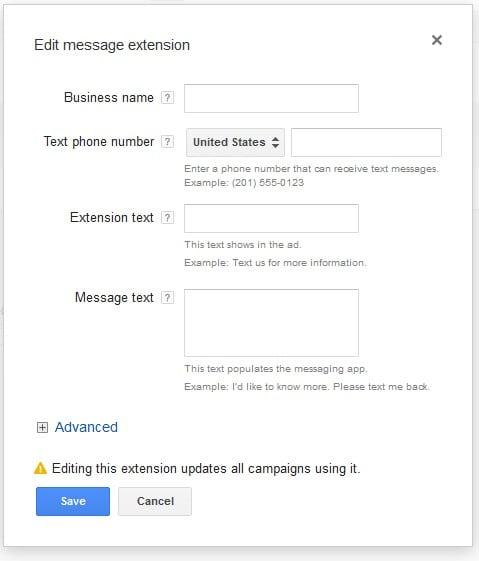Extensões Clique Enviar Mensagens