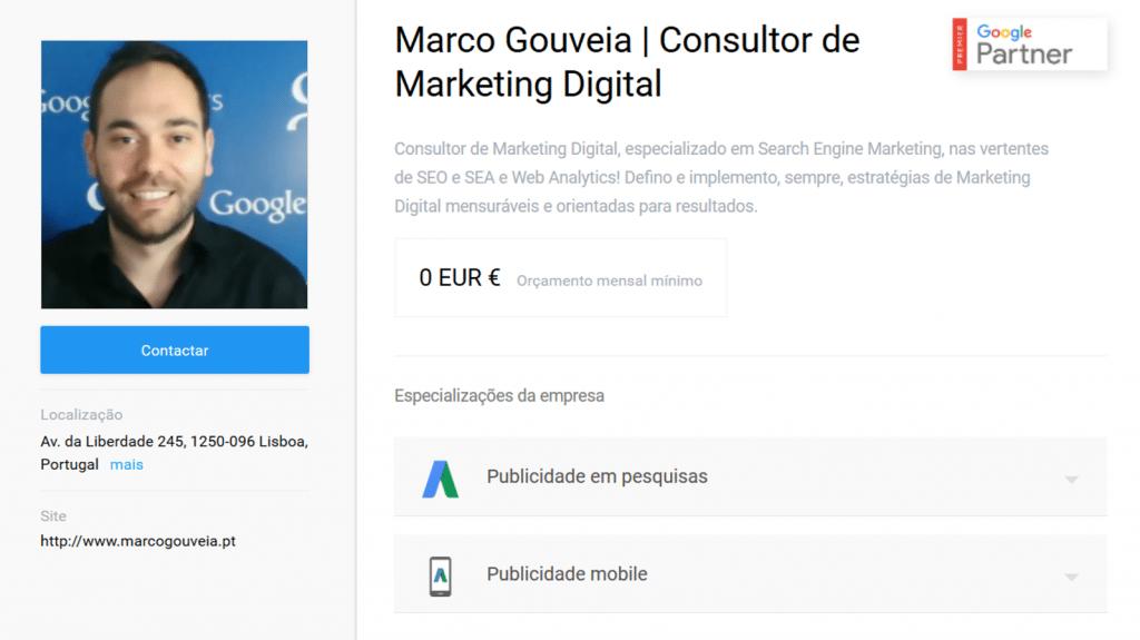 Google Partner Premier – Marco Gouveia