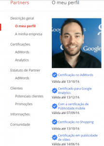 Obter o Certificado do Google AdWords