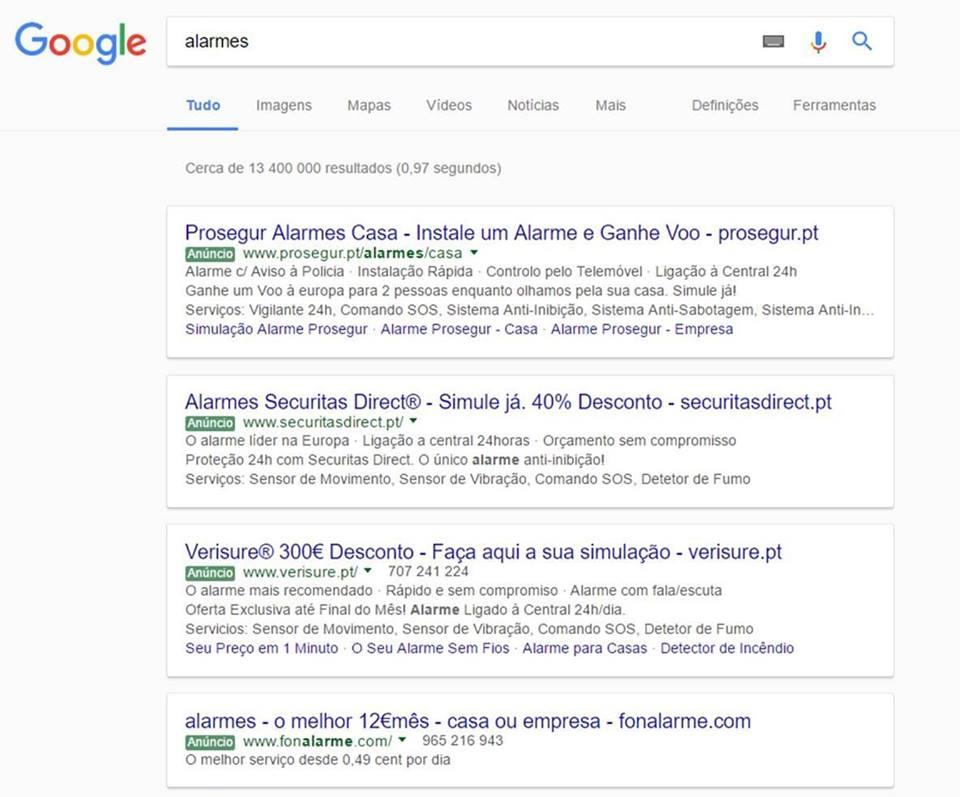 Espaço Entre Anuncios Google Adwords