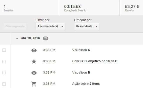 transacao evento - id cliente google analytics - exemplo