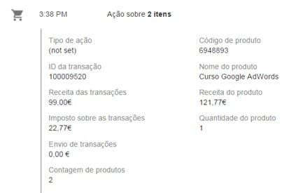 transacao evento - id cliente google analytics