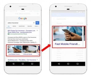 Visual Sitelinks Google AdWords